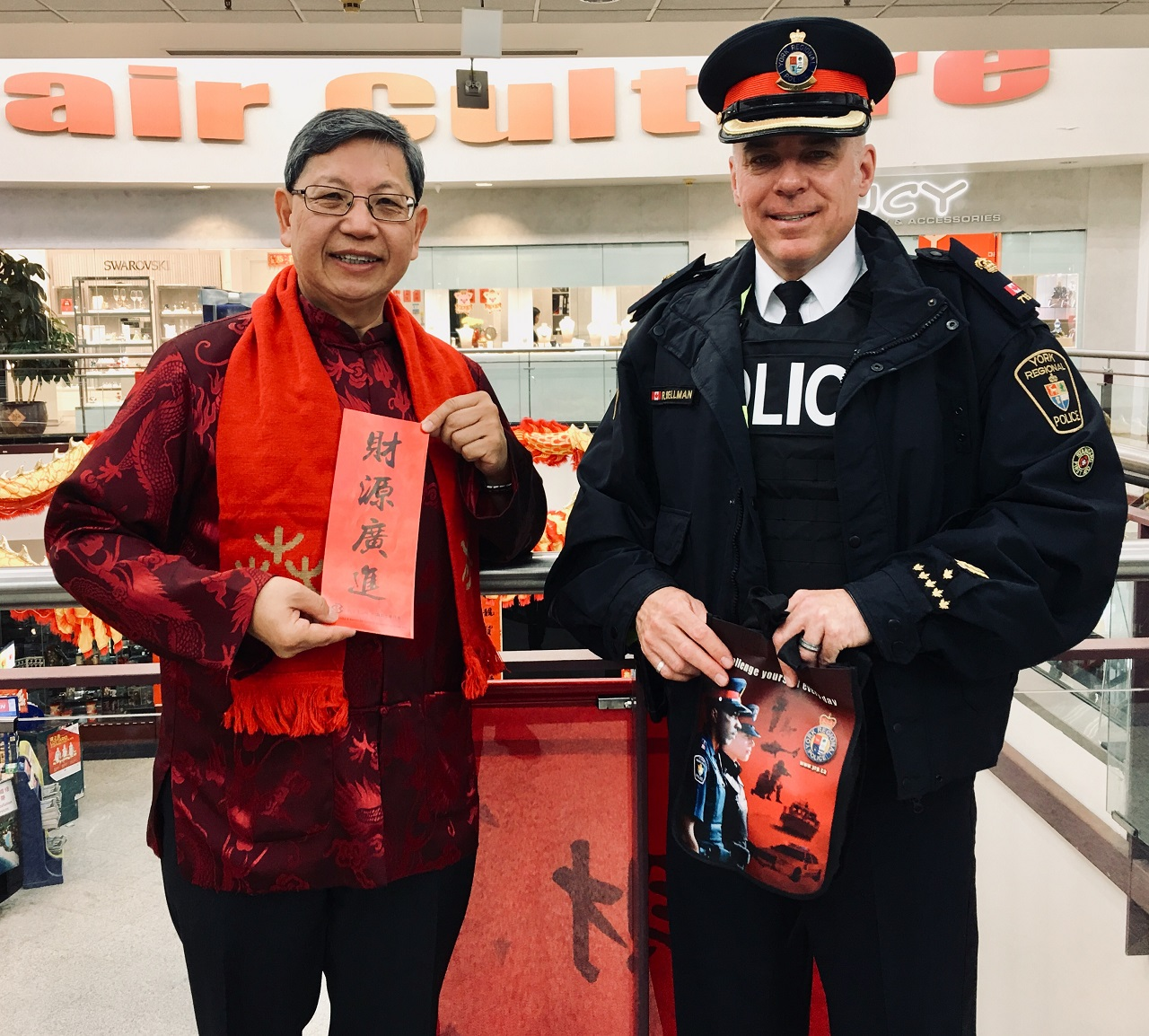 Godwin Chan at Mall Walk with Police